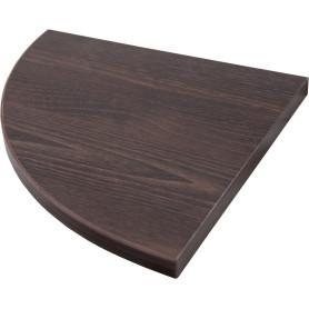 Полка мебельная угловая 250x250x16 мм, ЛДСП, цвет дуб термо тёмный