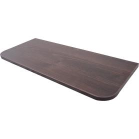 Полка мебельная закруглённая угловая 600x250х16 мм, ЛДСП, цвет дуб термо тёмный