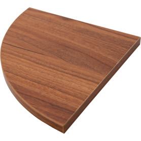 Полка мебельная угловая 250x250x16 мм, ЛДСП, цвет орех антик