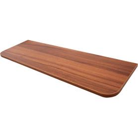 Полка мебельная закруглённая  800х250 мм, ЛДСП, цвет орех антик