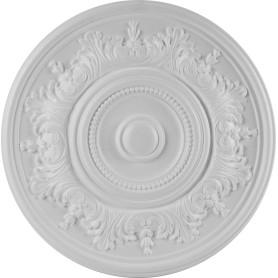 Розетка потолочная полистирол белая Формат 520А 52 см