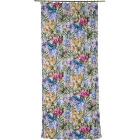 Штора на ленте «Сиреневые цветы», 140х260 см, цвет сиреневый