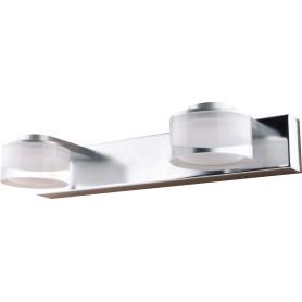Светильник настенный светодиодный Escada Sicilia 2х3 Вт IP44 стекло, цвет хром