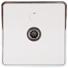 ТВ-розетка оконечная накладная Werkel Gallant звезда, цвет белый