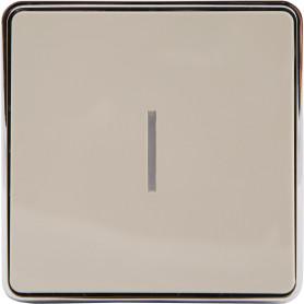 Выключатель накладной Werkel Gallant 1 клавиша с подсветкой, цвет слоновая кость