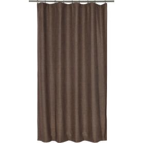 Штора на ленте «Лён», 135х180 см, цвет шоколадный