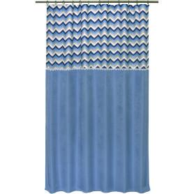 Штора на ленте «Бесконечность», 135х180 см, жаккард, цвет синий