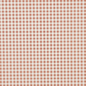 Скатерть «Клетка коричневая», ПВХ, 160x140 см