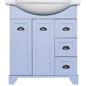 Тумба под раковину напольная Aquaton «Шарм» 75 см, цвет голубой