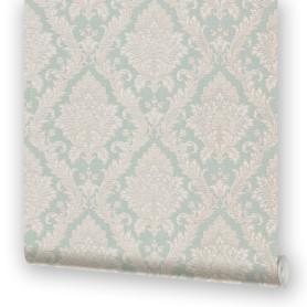 Обои на бумажной основе EcoStyle «Марселла 6», 53x10.05 м, цвет бирюзовый
