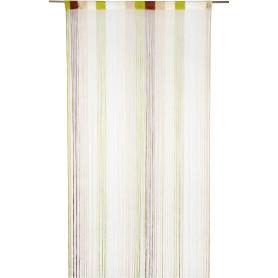 Штора нитяная Inspire, 150х280 см, цвет экрю/золотой/шоколадный/зелёный