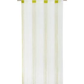 Штора нитяная Inspire, 150х280 см, цвет белый/зелёный