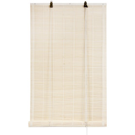 Штора рулонная «Бамбук» 60х160 см, цвет белый