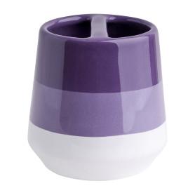 Стакан для зубных щёток «Trait» с разделителем керамика цвет фиолетовый