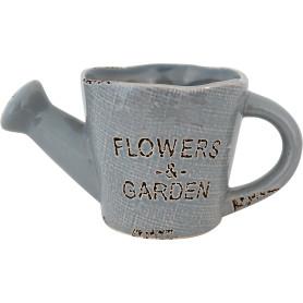 Кашпо цветочное «Кактусник», D10, 0, 4л. керамика, Серый / Серебристый