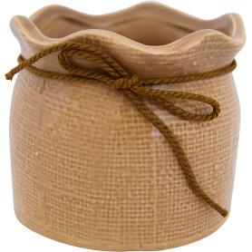 Кашпо цветочное «Кактусник», D9, 0, 6л. керамика, Бежевый