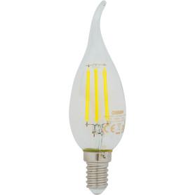 Лампа светодиодная Osram E14 220 В 5 Вт свеча на ветру 660 лм, тёплый белый свет