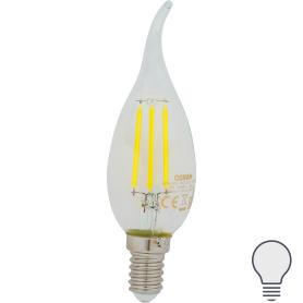 Лампа светодиодная Osram E14 220 В 5 Вт свеча на ветру 660 лм, холодный белый свет