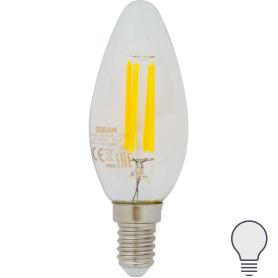 Лампа светодиодная Osram E14 220 В 5 Вт свеча 660 лм, холодный белый свет
