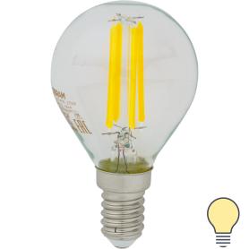 Лампа светодиодная Osram E14 220 В 5 Вт шар 660 лм, тёплый белый свет