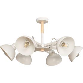 Люстра потолочная Anabel L1118-6, 6 ламп, 20 м², цвет белый