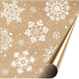 Бумага упаковочная крафт «Снежинки» 50х70/2 листа
