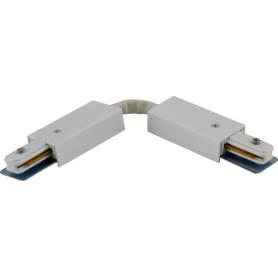 Коннектор для соединения трековых шинопроводов гибкий, цвет белый