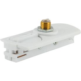 Адаптер для подключения любого прожектора или спота к трековой системе, цвет белый