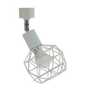 Трековый светильник «Spiro» со сменной лампой E14 40 Вт, 2 м², цвет белый