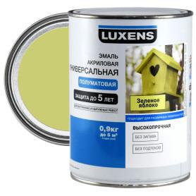 Эмаль универсальная Luxens 0.9 кг зеленое яблоко
