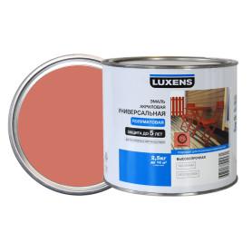 Эмаль универсальная Luxens 2.5 кг коралловый