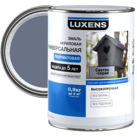 Эмаль универсальная Luxens 0.9 кг светло-серый
