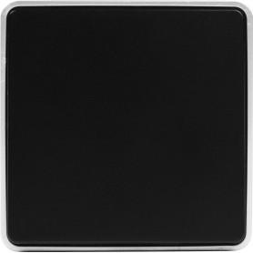 Выключатель накладной Werkel Gallant 1 клавиша, цвет чёрный с серебром