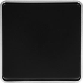 Выключатель накладной влагозащищённый Werkel Gallant 1 клавиша, IP44, цвет чёрный с серебром