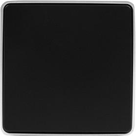 Выключатель проходной накладной Werkel Gallant 1 клавиша, цвет чёрный с серебром