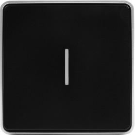 Выключатель накладной Werkel Gallant 1 клавиша с подсветкой, цвет чёрный с серебром