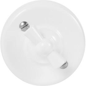Выключатель накладной Electraline Bironi Ретро 2 положения цвет белый