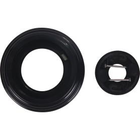 Рамка для розеток и выключателей Electraline 1 пост, цвет чёрный