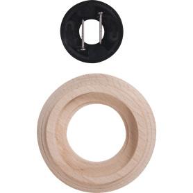 Рамка для розеток и выключателей Electraline Натурель 1 пост, цвет бежевый