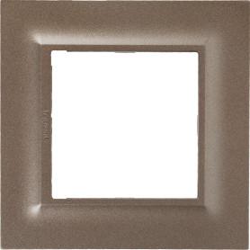 Рамка для розеток и выключателей Legrand Structura 1 пост, цвет шампань