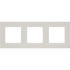 Рамка для розеток и выключателей Legrand Structura 3 поста, цвет слоновая кость