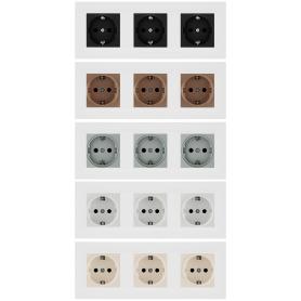 Рамка для розеток и выключателей Legrand Structura 3 поста, цвет белый