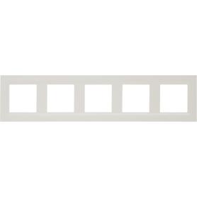 Рамка для розеток и выключателей Legrand Structura 5 постов, цвет слоновая кость