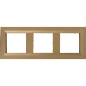 Рамка для розеток и выключателей Legrand Structura 3 поста, цвет золото