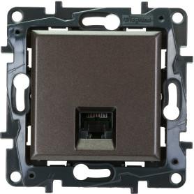 Розетка компьютерная встраиваемая Legrand Structura RJ45, UTP cat 5, цвет магнезиум