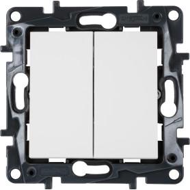Выключатель встраиваемый Legrand Structura 2 клавиши, цвет белый
