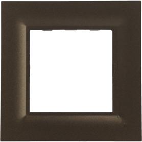 Рамка для розеток и выключателей Legrand Structura 1 пост, цвет бронза