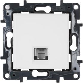 Телефонная розетка встраиваемая Legrand Structura RJ11, цвет белый