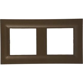 Рамка для розеток и выключателей Legrand Structura 2 поста, цвет бронза