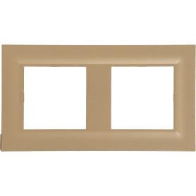 Рамка для розеток и выключателей Legrand Structura 2 поста, цвет золото